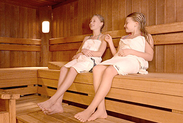 Copii in sauna